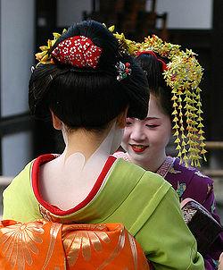 Asian woman fully dressed in geisha attire