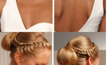 Blond women with wedding hairstyles