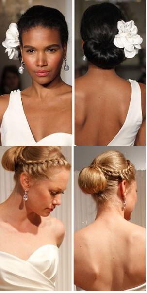 Blond women with wedding hairstyles