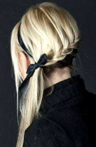 Pony braid hairstyle