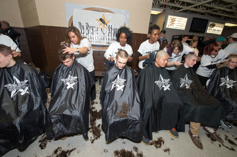 Hair Cuttery at Be Brave and Shave Event