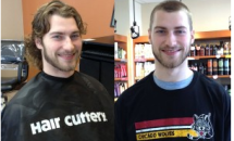 Male Before and after long to short hair