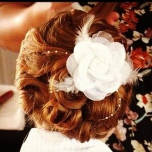 Curled Up-do with Accessory