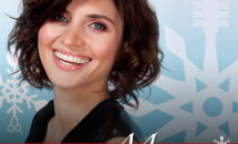 short hair woman on Hair Cuttery Merry Makeover banner