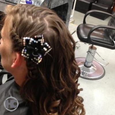 Braid with hair accessories