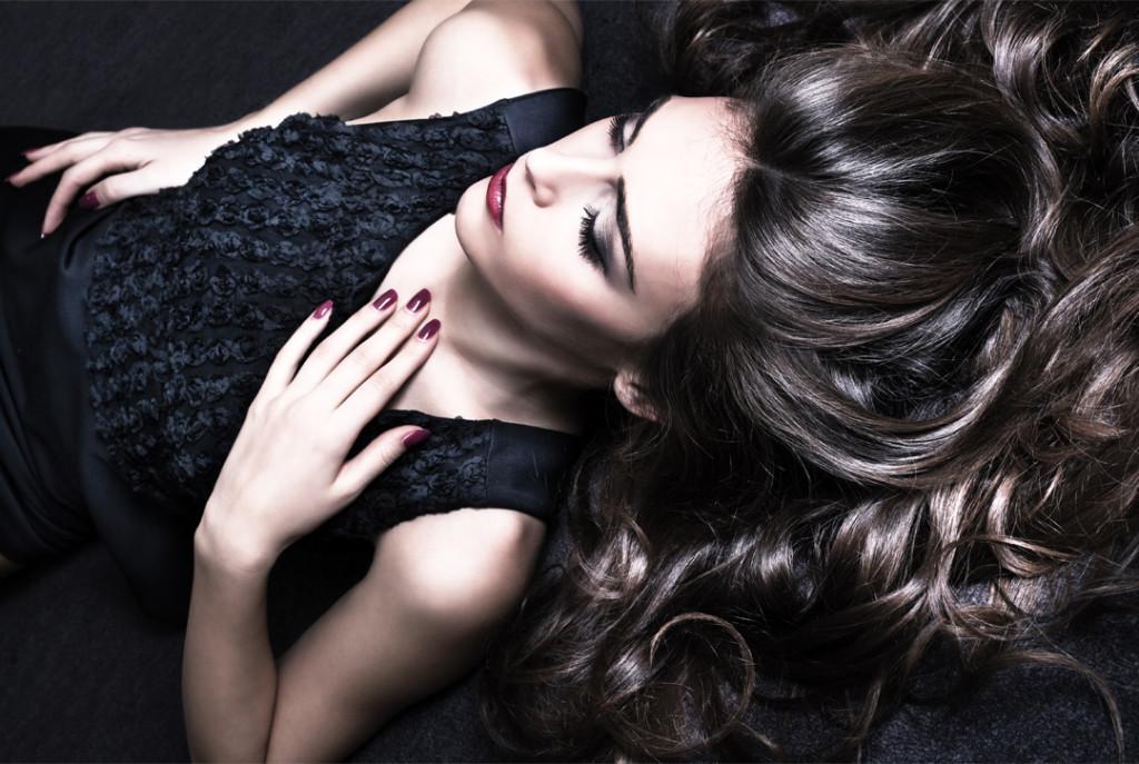 Female model Brunette hair