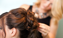 woman getting her hair done for special occasions