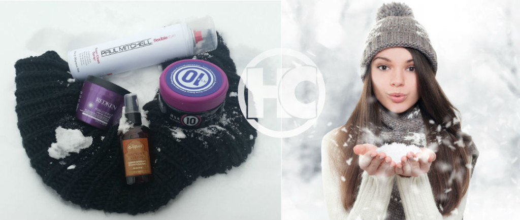 Winter Essentials Cover Image woman blowing snow
