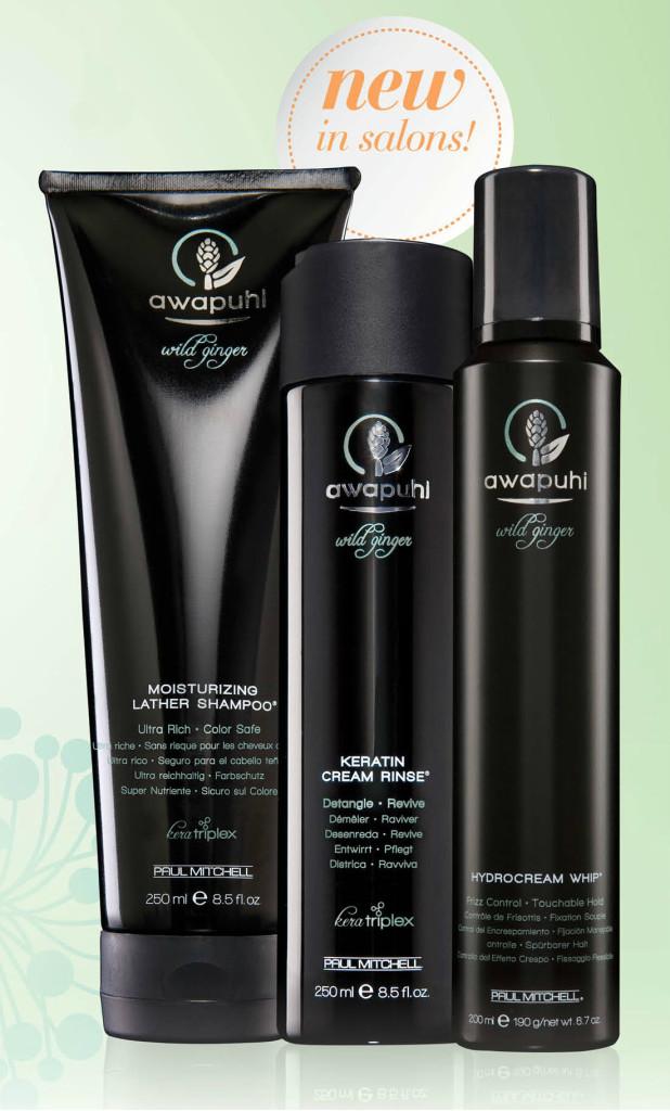 Awapuhi Moisturizing Lather Shampoo, Keratin Cream Rinse and Hydrocream Whip
