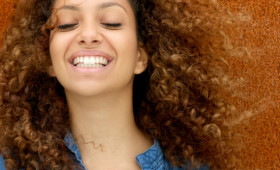 african american woman with natural texture curls