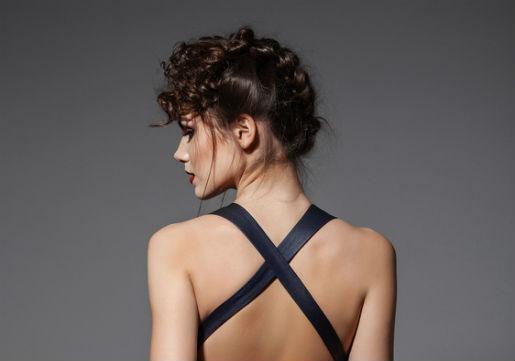 French braided backwards bun