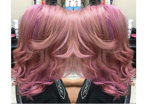 girl with Pink haircolor