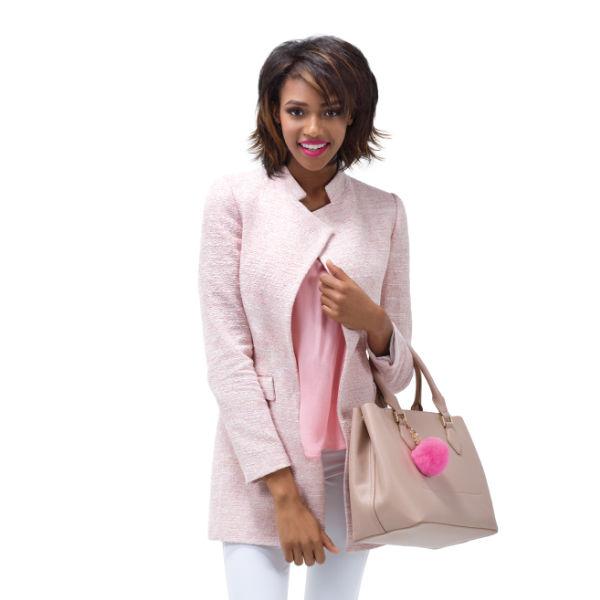 Female model holding bag