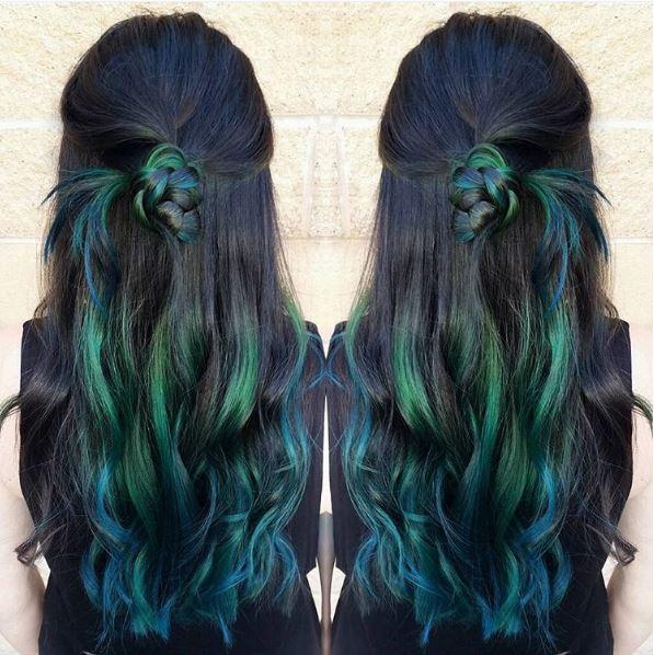hair color, jewel tones, brunette
