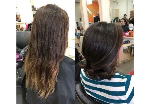 haircut, healthy hair, brown