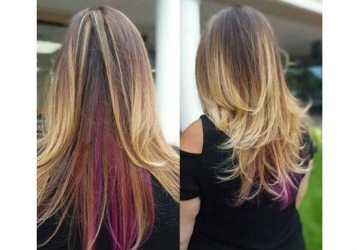 peek a boo vivid hair color
