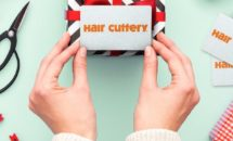 Hair Cuttery gift card with presents