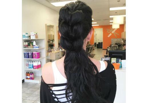 Layered ponytail