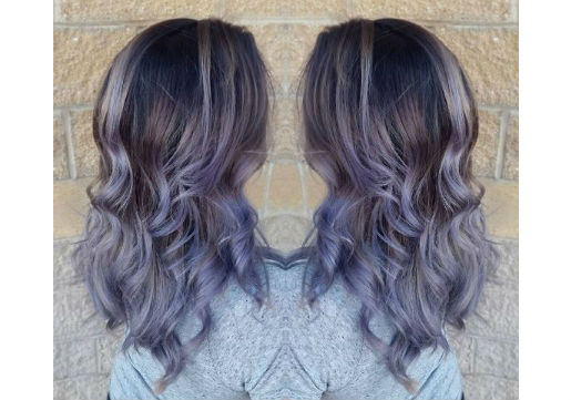 Vivid hair silver with lilac