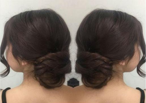 low loose bun