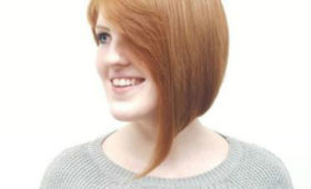 Redhead bob cut