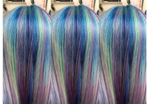 mermaid haircolor festival hair