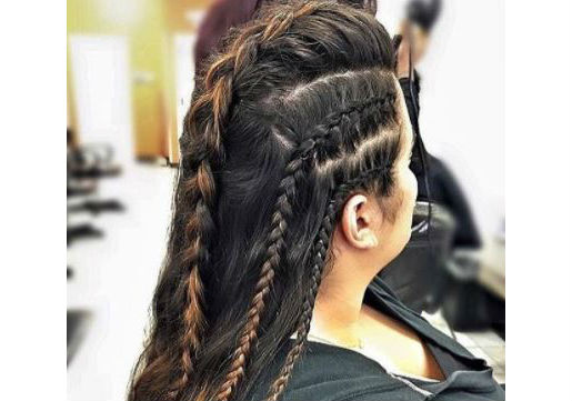 braid hawk festival hair
