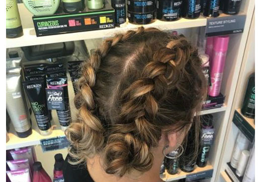 dutch braids low buns festival hair