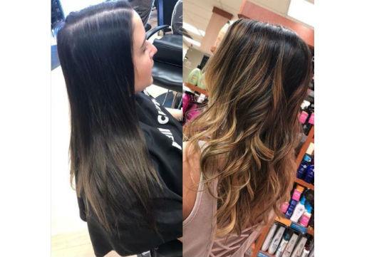 long brown hair with balayage highlights