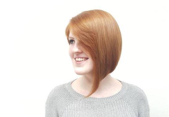 redhead with bob haircut