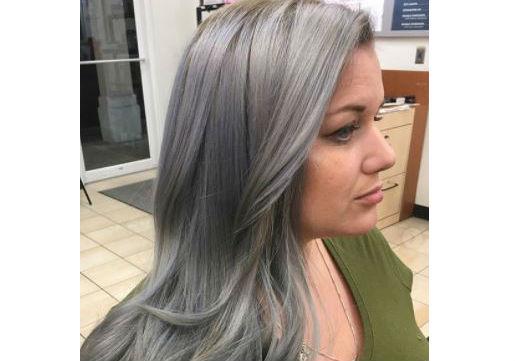 festival hair silver