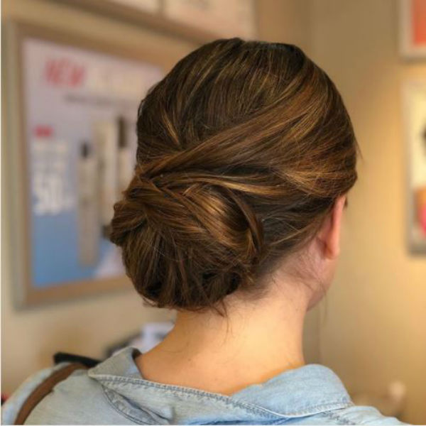 Prom Hairstyles low chignon