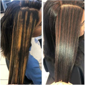 dark hair color with highlights from hair cuttery