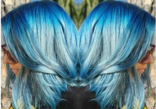 denim blue hair from hair cuttery