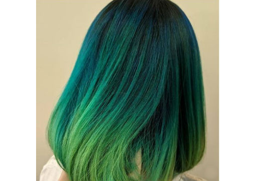 mermaid green and blue hair color from hair cuttery