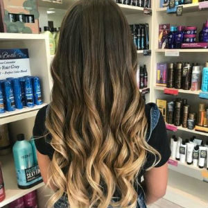 Ombre on long brunette from Hair Cuttery