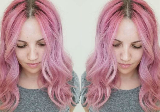 cotton candy hair color at hair cuttery