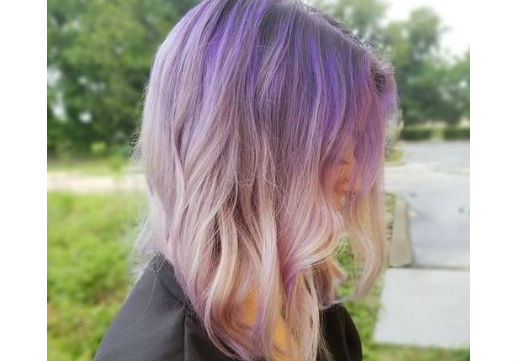 reverse purple ombre from hair cuttery