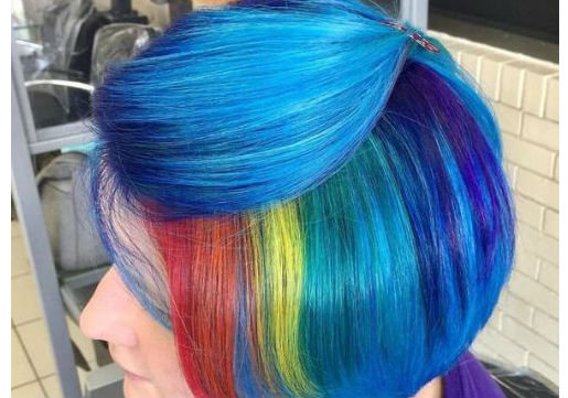 rainbow hair color from hair cuttery