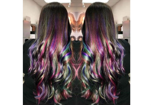rainbow hair highlights from hair cuttery