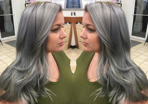 silver metallic hair color from hair cuttery
