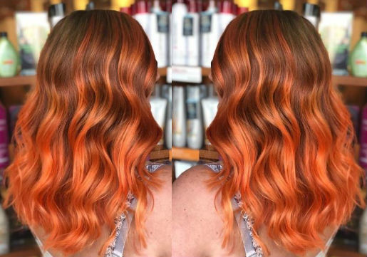 sunset hair color from hair cuttery