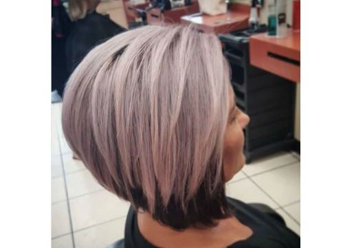 two tone pastel hair color from hair cuttery