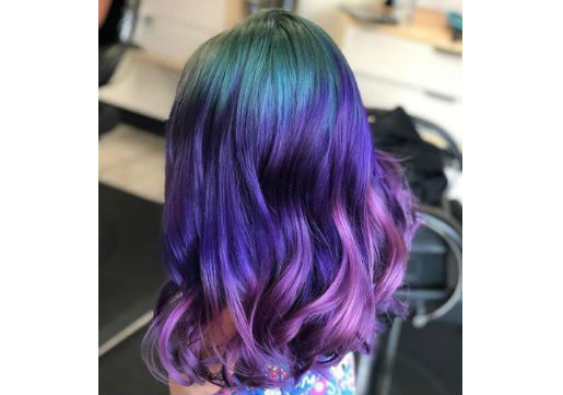 unicorn hair all over from hair cuttery