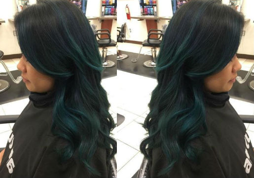blue mermaid hair from hair cuttery