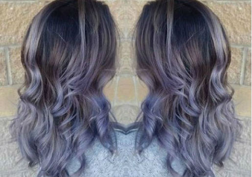 metallic lilac hair color for light to medium brown hair from hair cuttery