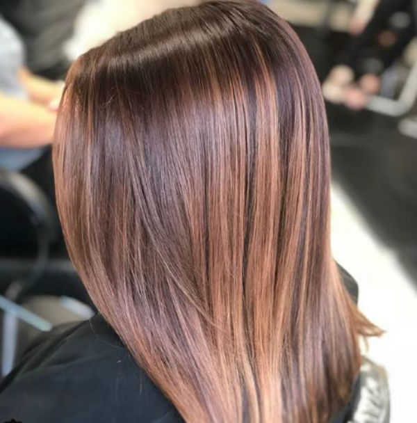 Brunette trends- amber balayage