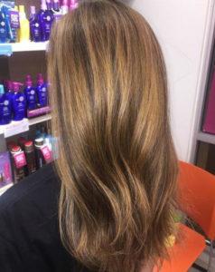 Brunette trends- amber highlights