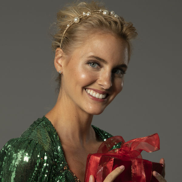 holiday hair blonde with updo