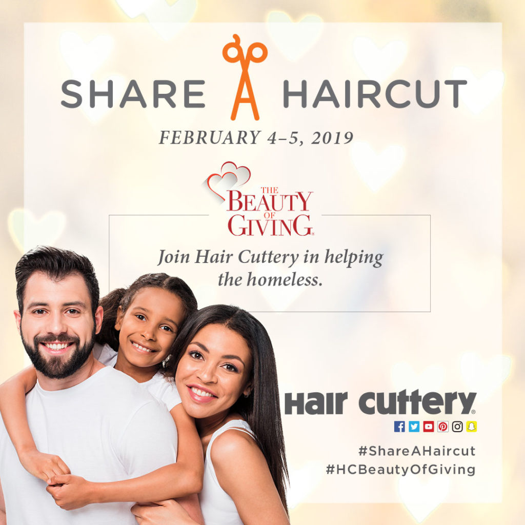 Share a Haircut this February 4-5 and help the homeless